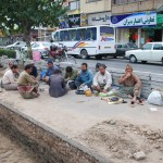 Afghan Workers Having Lunch